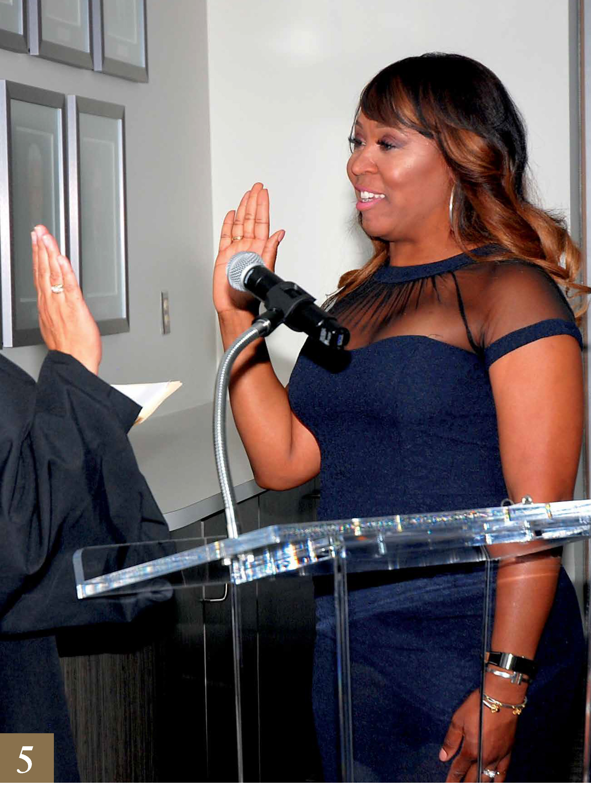 Erica Rouse sworn in as trustee