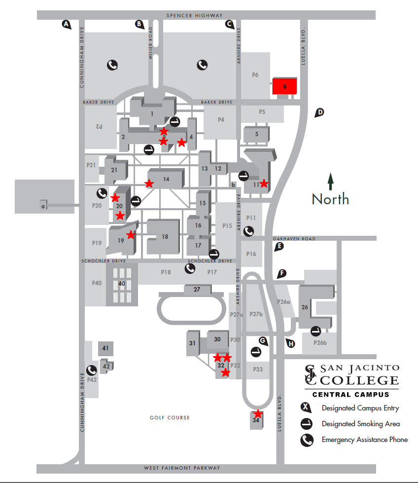 Central Campus Carru Exclusion Zones