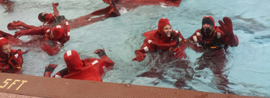 Maritime Training in water