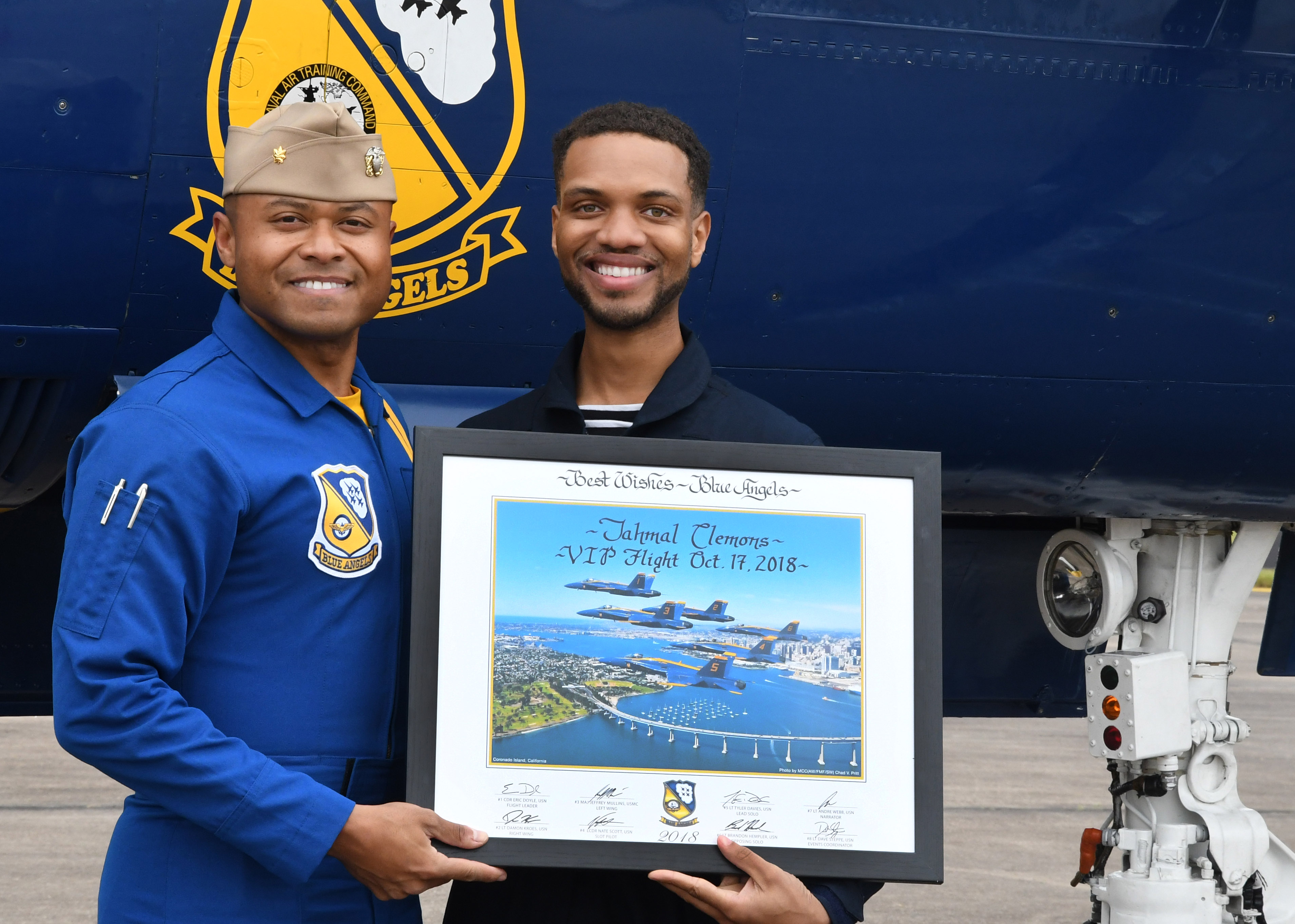 San Jacinto College's Clemons flies high with the Blue Angels