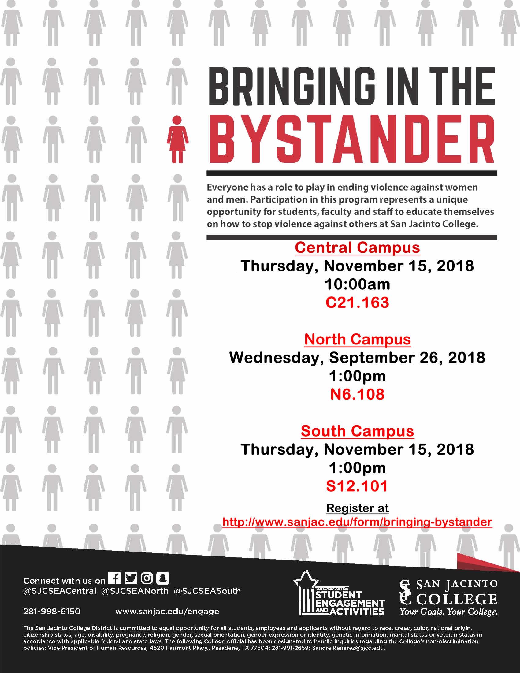 Fall 2018 Bystander Flyer