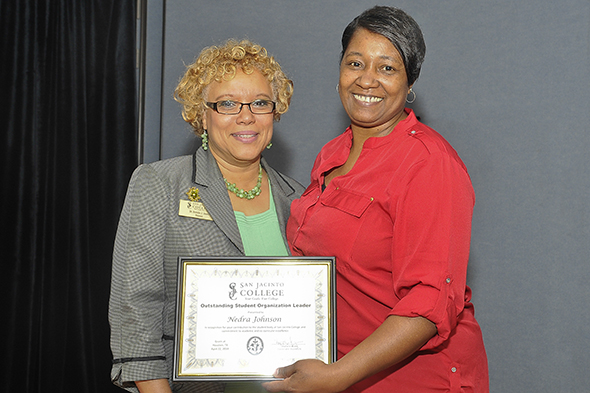 Johnson named 2014 Outstanding Student Organization Leader