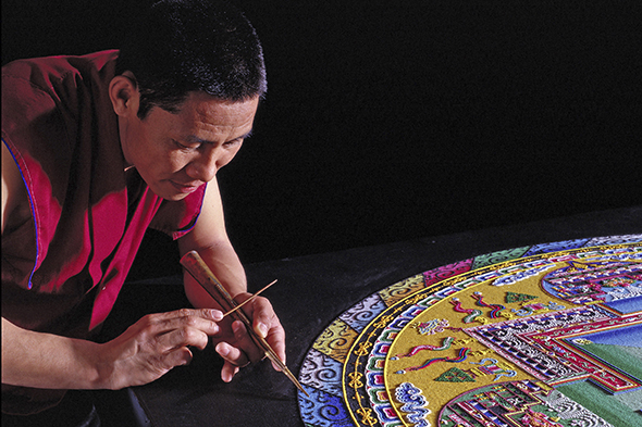 Mystical Arts of Tibet headed to San Jacinto College: Tibetan monks to create sand mandala and facilitate community lectures, activities
