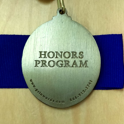 Honors Graduate medal back
