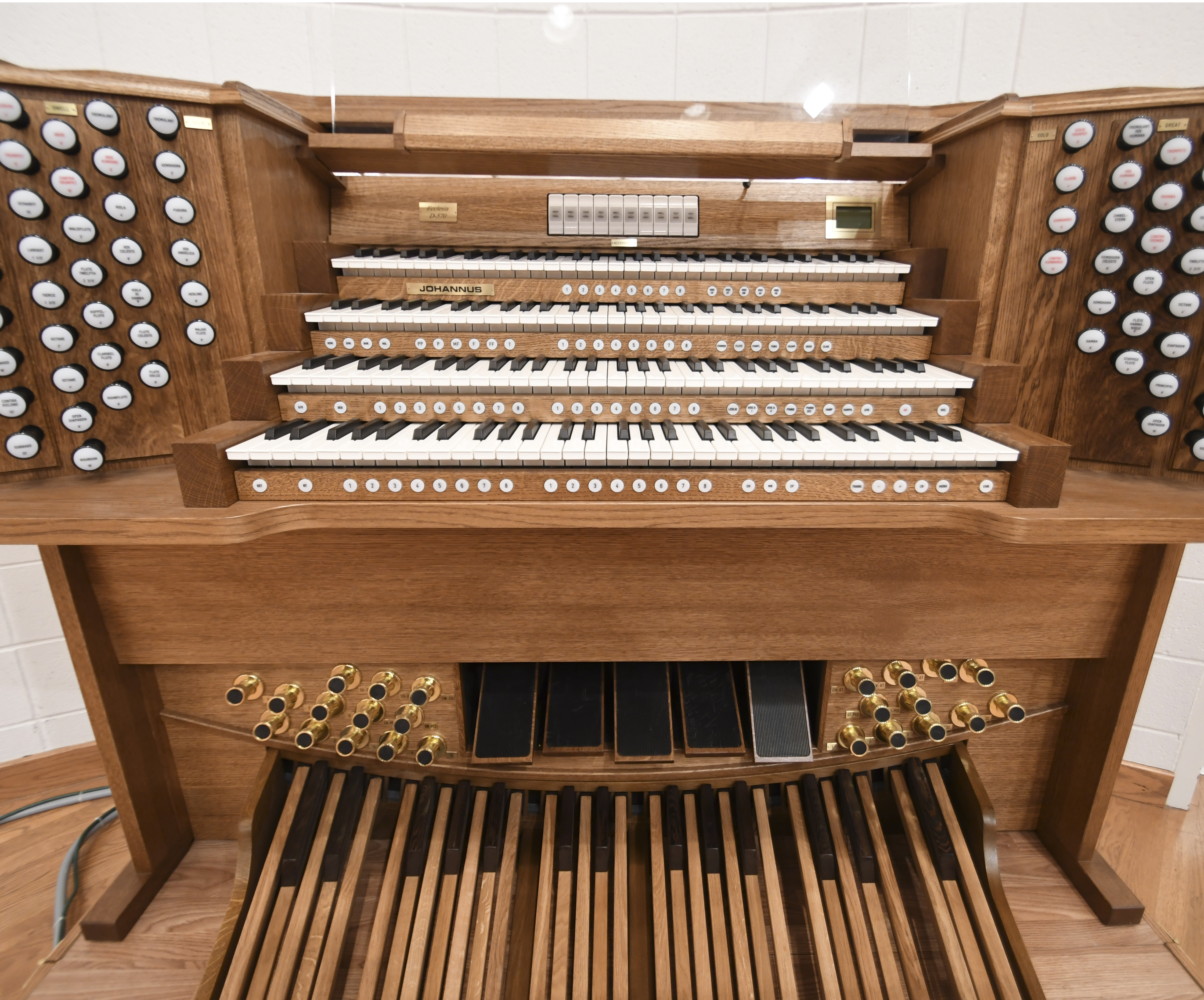 Music program adds digital church organ to course repertoire: Westbrook's $100,000 donation secures purchase of new digital organ
