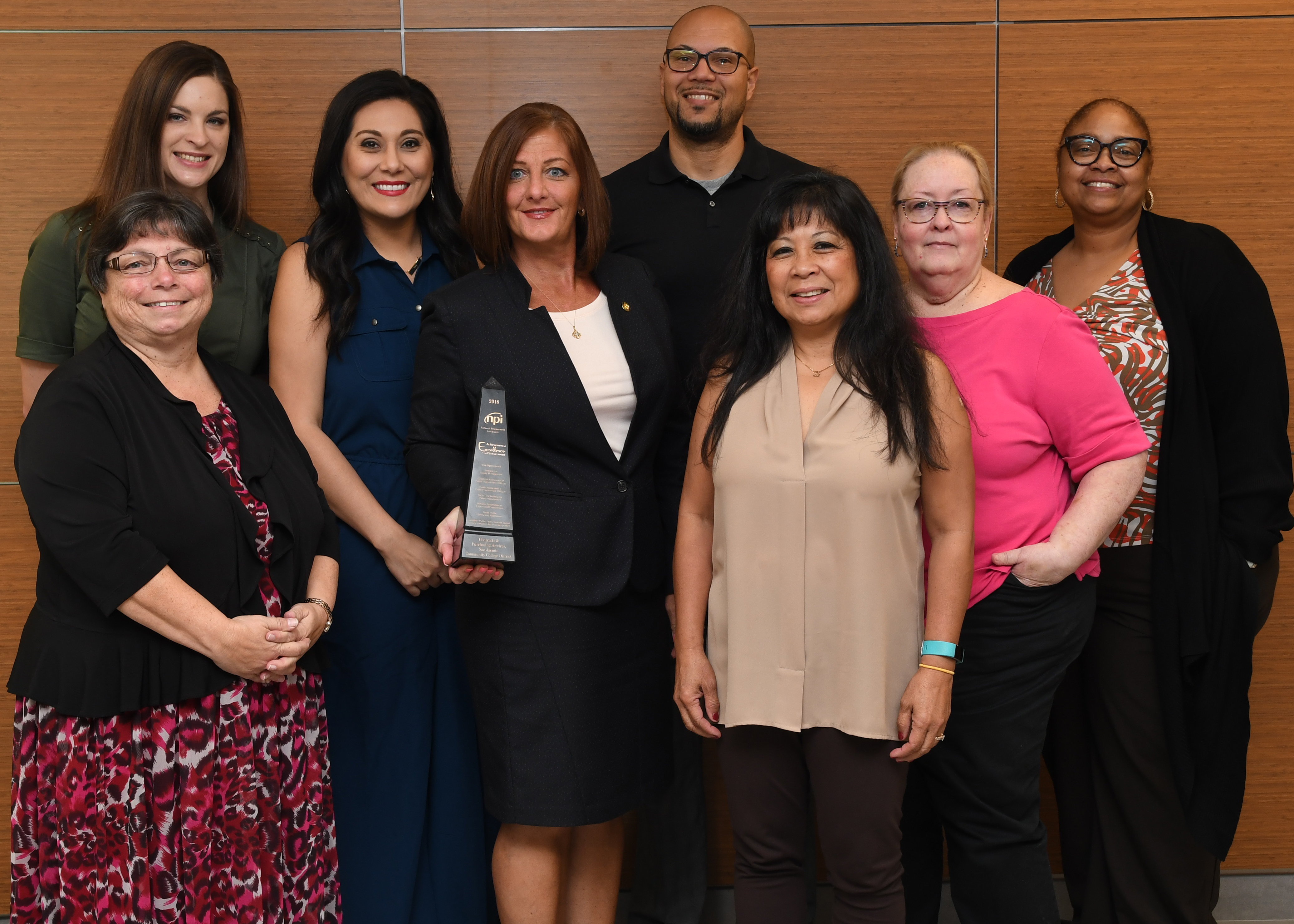 San Jacinto College contracts and purchasing team earns national award