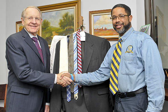 Local attorney donates to kick off Men of Honor clothing drive