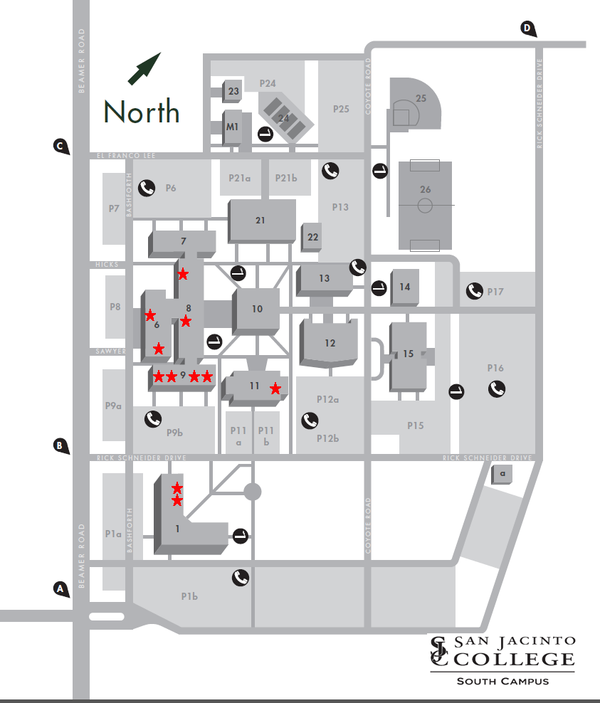 South Campus Carru Exclusion Zones