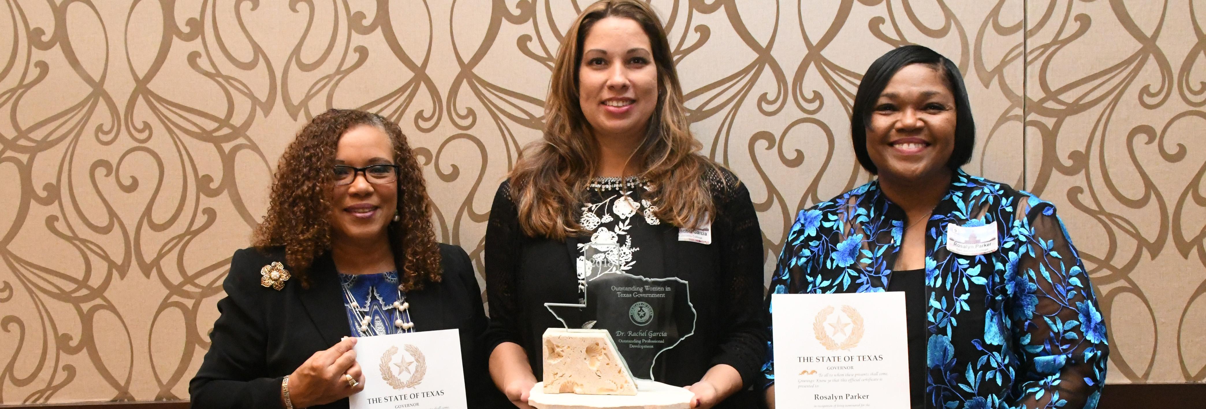 Dr. Rachel Garcia receives Outstanding Women in Texas Government Award