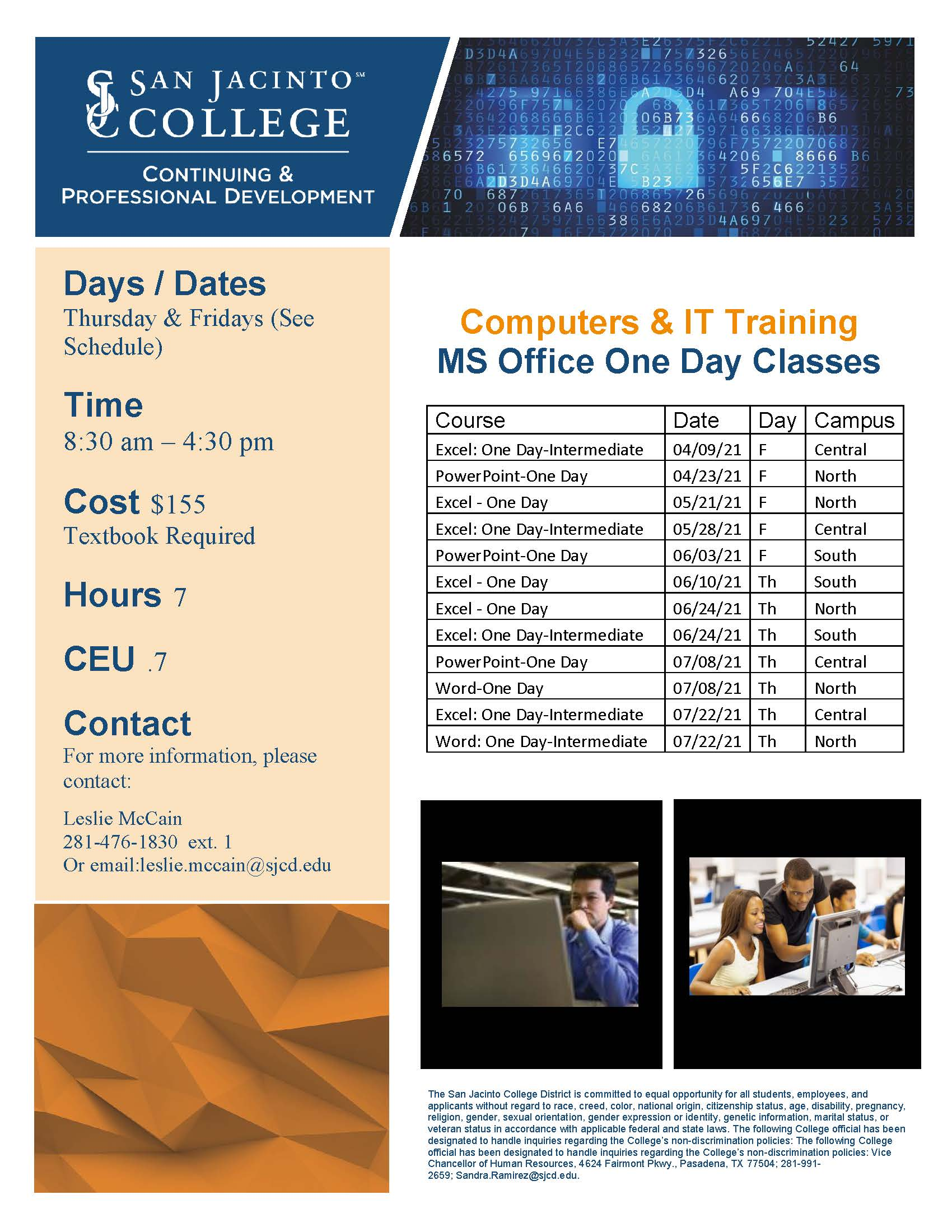 MS One Day Classes