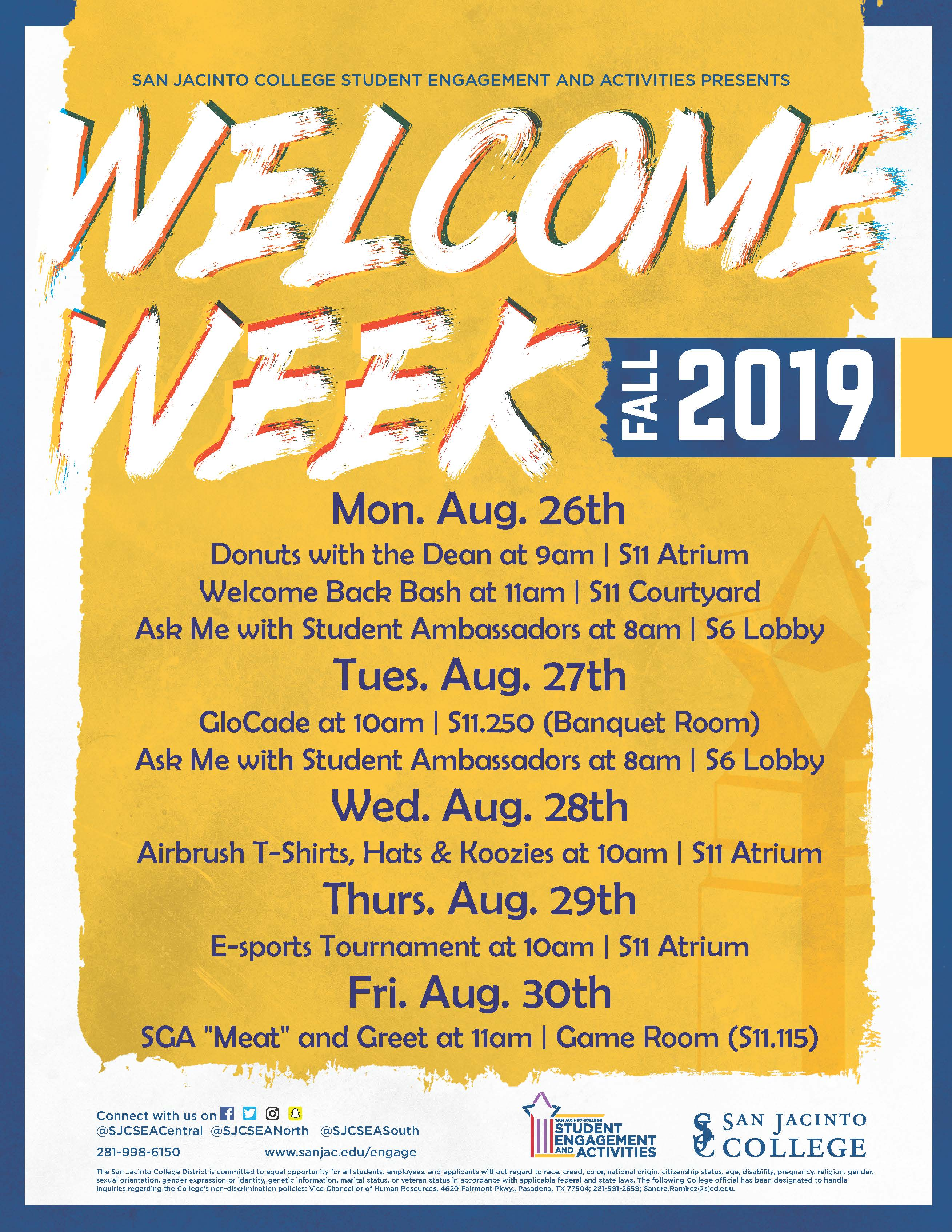 South Welcome Week