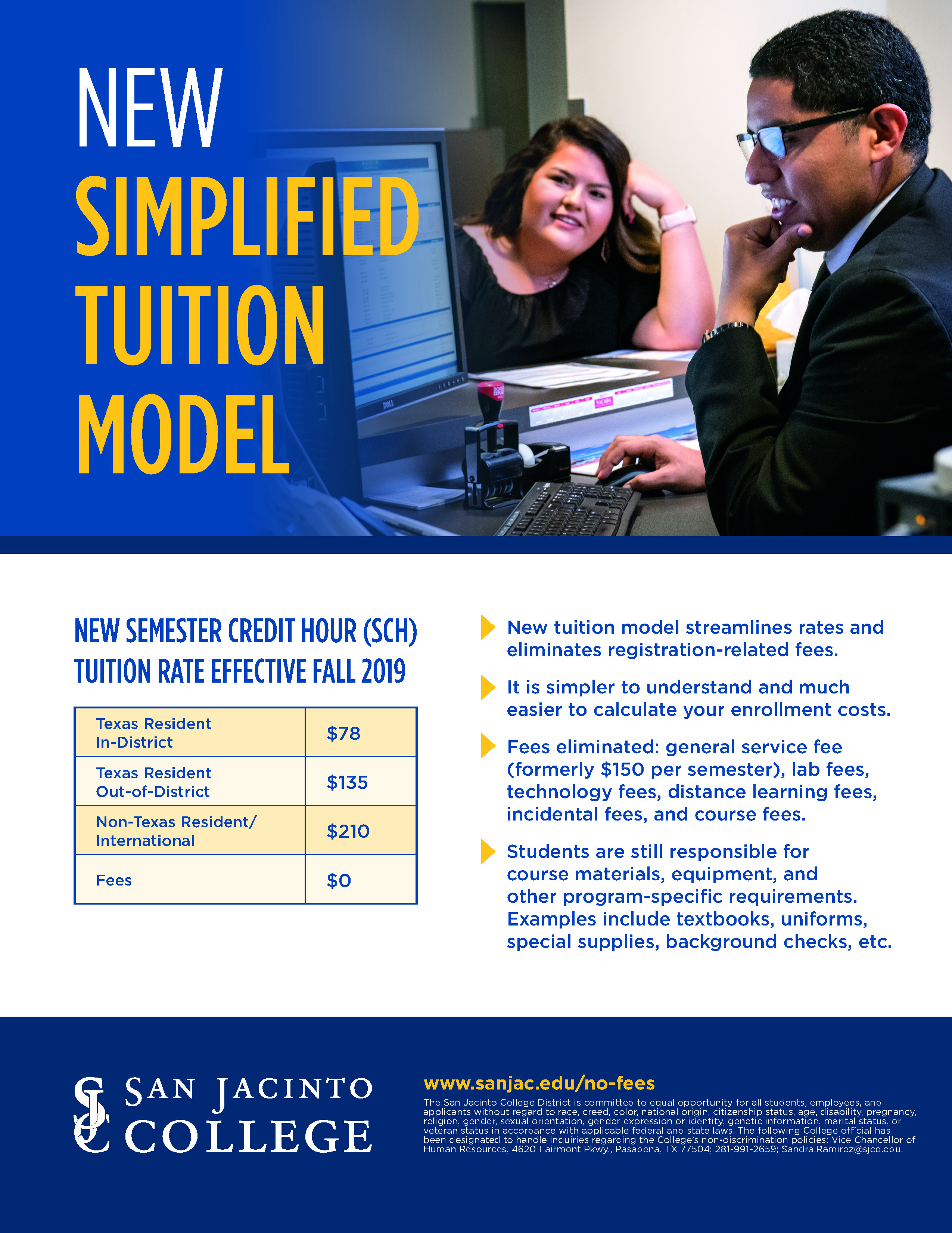new tuition rates flyer