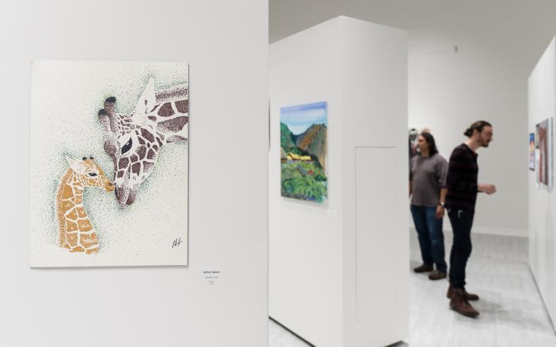 Art on display at the South Campus gallery