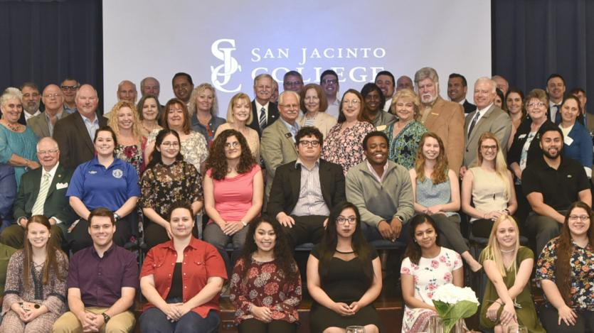 group photo of San Jacinto College technical program students and faculty