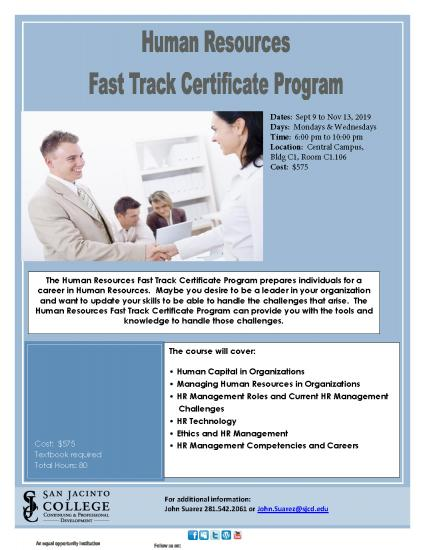 Human Resources Fast Track Certificate Program
