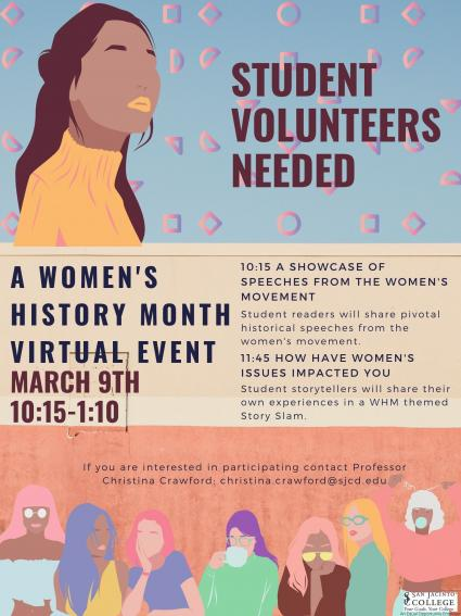 Women's History Month Volunteers Needed