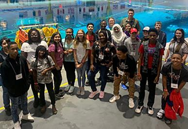 EnergyVenture campers visit NASA's Neutral Buoyancy Lab