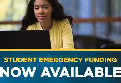 Student emergency funding is now available.