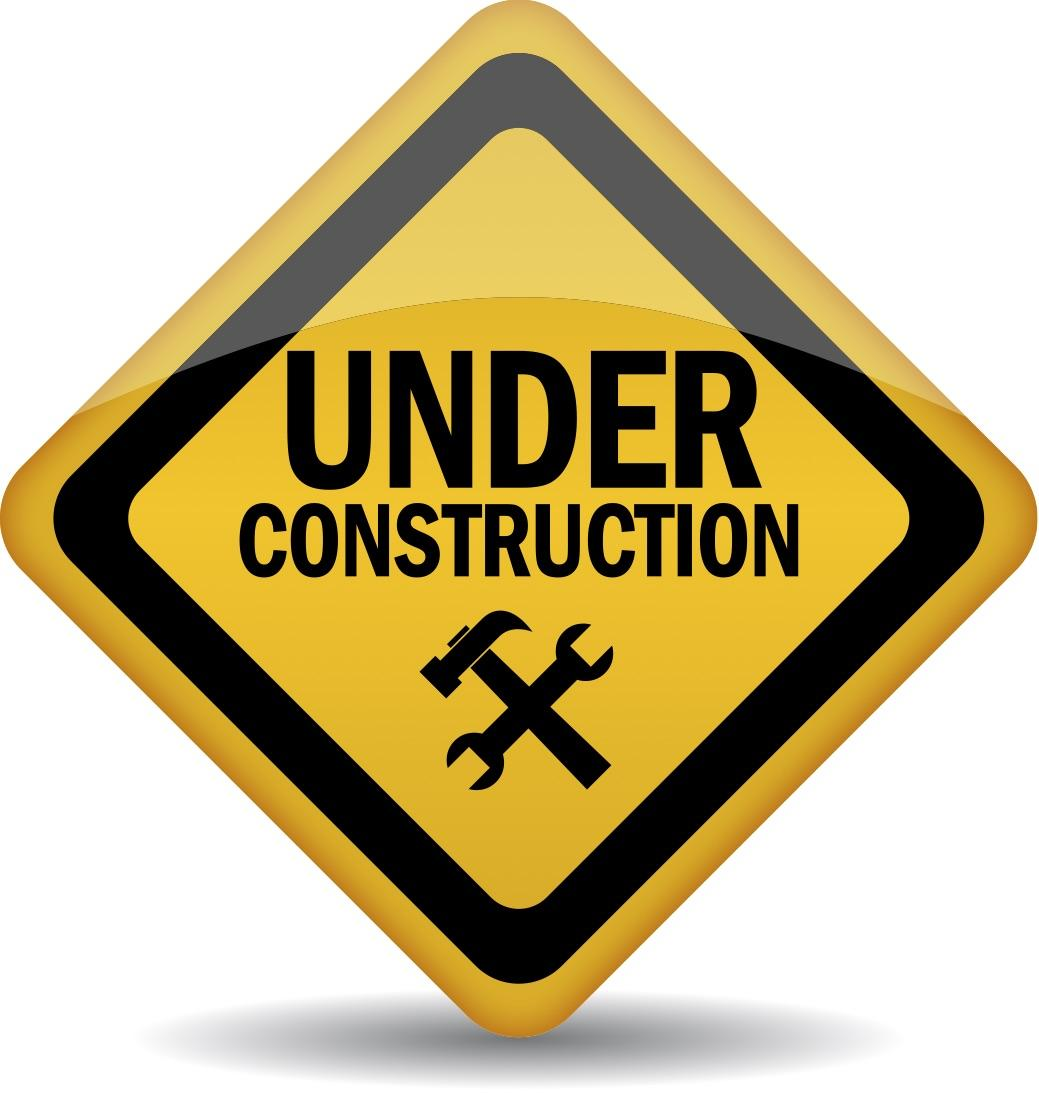 under construction warning sign