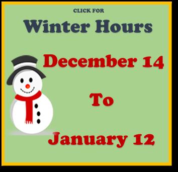 Winter 2019 Hours